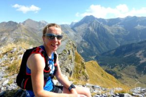 A runner on top of the world on Trail Running Holiday Reviews Pyrenees