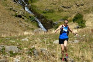 A trail runner in Ordesa on Trail Running Holiday Reviews Pyrenees