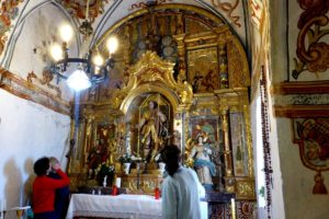 A photo inside the chapel of San Urbez on our Cooking and Culture Holiday