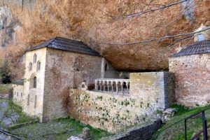 A photo of the Monastery of San Juan de la Peña on our Cooking and Culture Holiday