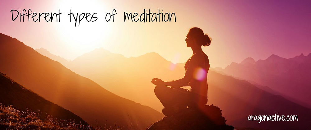A photo of a man meditating at sunrise in the mountains on different Types of Meditation