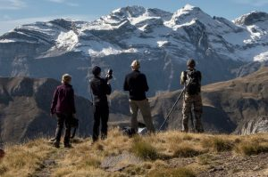 Photographers high in the Pyrenees on the Photography Holiday Spain with Aragon Active
