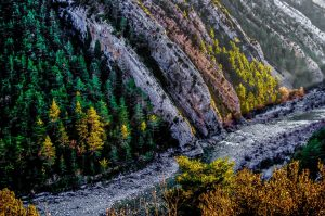 A photo of a gorge on the river Ara in the Pyrenees taken on the Photography Holiday Spain with Aragon Active