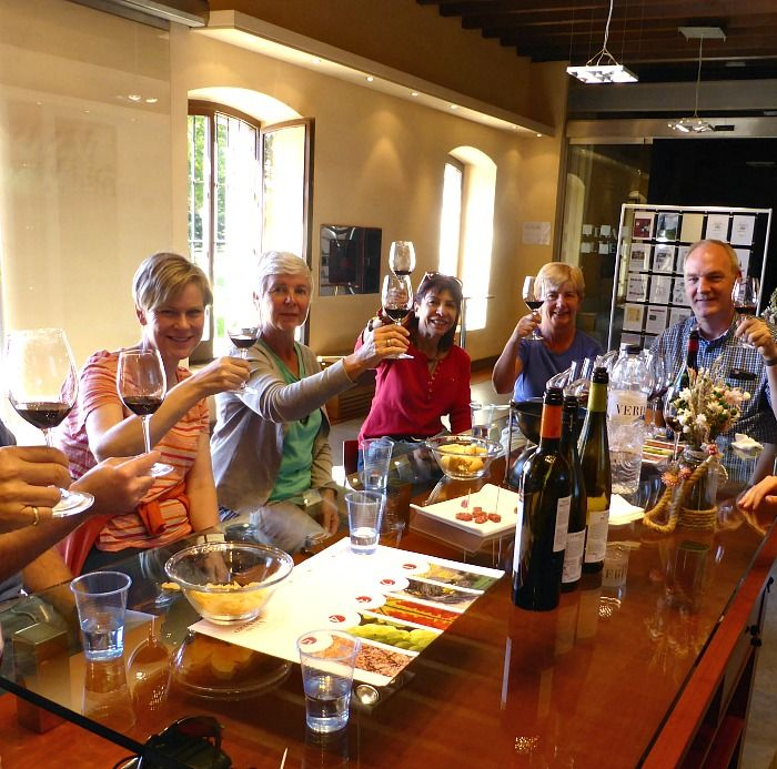 A group visiting a bodega in Somontano on Aragon Active Tailor Made Activity Holiday Spain