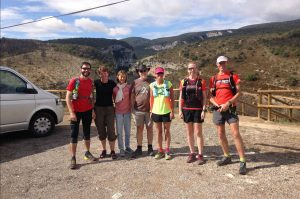 Our Trail Running group 2017 on Aragon Active Trail Running Holiday