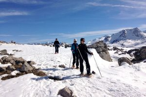 Snowshoeing in the valley of Tena in the Pyrenees on Snowshoeing Holidays Pyrenees with Aragon Active