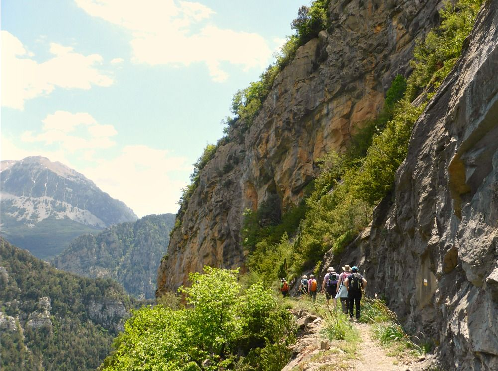 A faja walk on Aragon Active Guided walking Holiday Spain