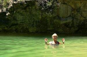 A swim and some meditation in a beautiful natural pool in the Pyrenees on the Yoga Meditation Retreat Spain with Aragon Active