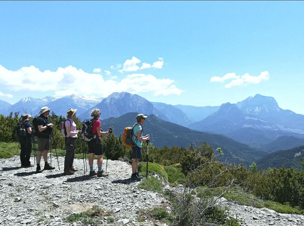 Breathtaking view on Aragon Active Guided walking Holiday Spain