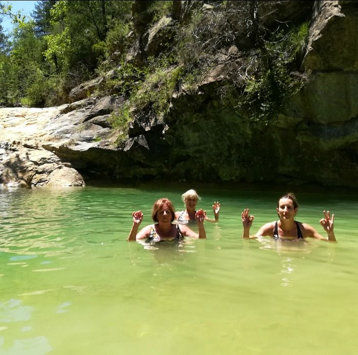 Wild swimming in the Pyrenees on Aragon Active Juice Retreat Spain