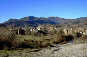 The ruins of Janovas near the Ordesa National Park on Aragon Active Self Guided Walking Holiday Spain