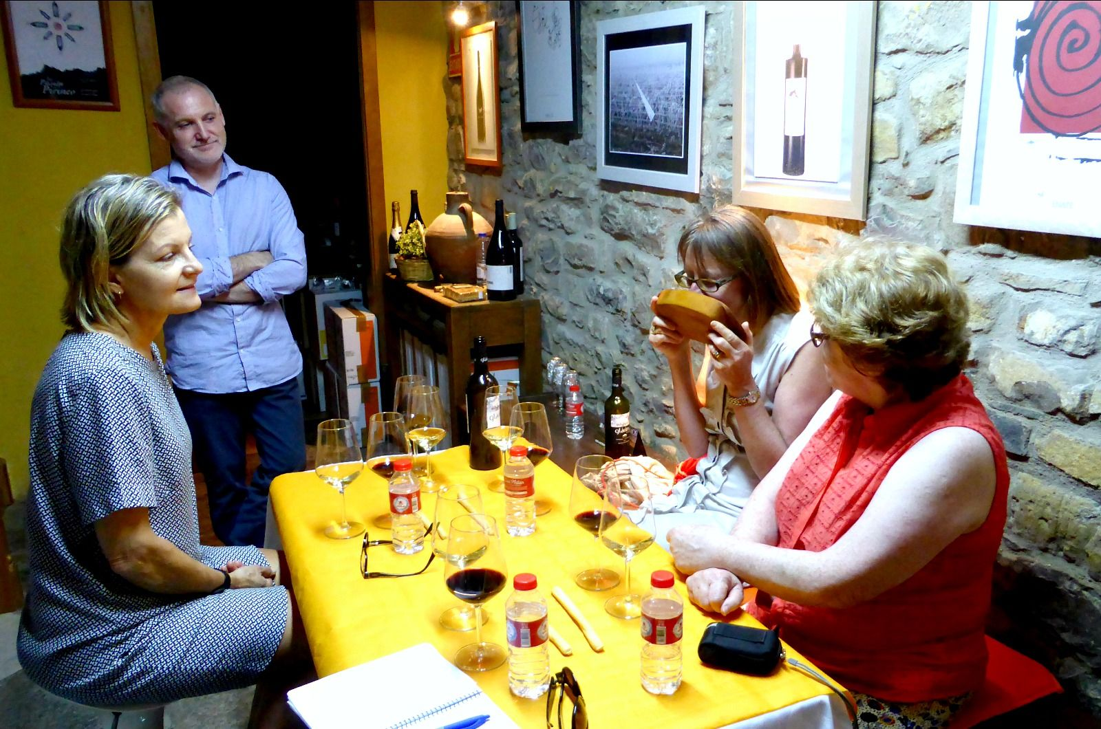 A wine tasting in Spanish as part of the Learn Spanish Holiday with Aragon Active